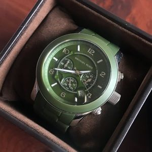 Michael Kors Army Green Oversized Watch